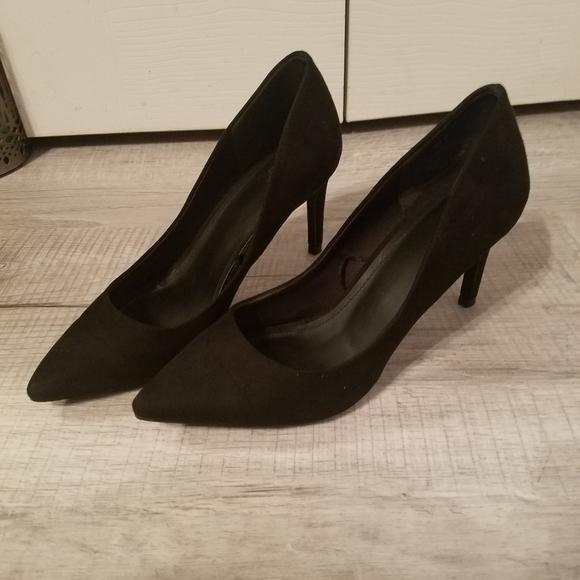 H&M 3 in. Black suede heels